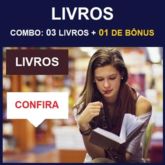 (LIVROS) COMBO: 03 Livros + 01 de Bônus - Entrega via CORREIO