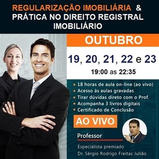(AO VIVO) Curso de Regularização Imobiliária & Prática no Direito Registral Imobiliário - OUTUBRO