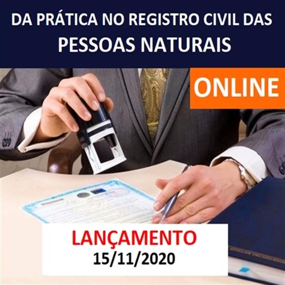 (ONLINE) Da Prática no Registro Civil das Pessoas Naturais - EM BREVE!